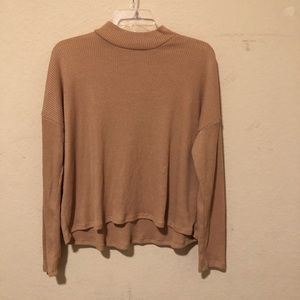 H&M Tan Ribbed Turtleneck